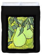 Michigan Pears Duvet Cover