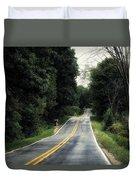 Michigan Rural Roadway In September Duvet Cover