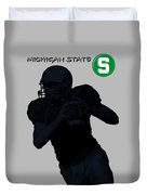 Michigan State Football Duvet Cover