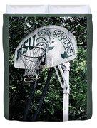 Michigan State Practice Hoop Duvet Cover
