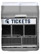 Michigan State University Tickets Booth Sc Signage Duvet Cover