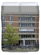 Michigan State University Welcome To Akers Signage Duvet Cover