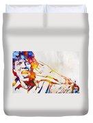 Mick Jagger Abstract Duvet Cover