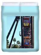 Mickey Donald Ferris Wheel California  Duvet Cover