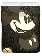 Mickey Mat Sepia Duvet Cover