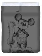 Mickey Mouse Novelty Phone Patent 1978 Duvet Cover