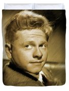 Mickey Rooney, Actor Duvet Cover