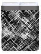Micro Linear Black And White Duvet Cover