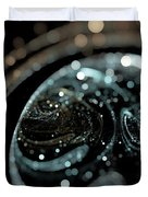 Microscopic IIi - Opale Duvet Cover by Sandra Hoefer