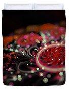 Microscopic V - Glitter Duvet Cover by Sandra Hoefer