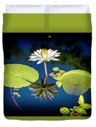 Mid Day Water Lily Reflection Duvet Cover