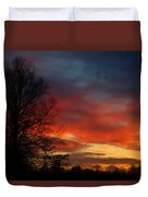 Mid-january Sunset Duvet Cover