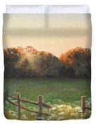 Mid-summer Sunset Duvet Cover