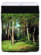 Midday Warmth In A Forest Impressionism Duvet Cover