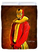 Middle Ages Iron Man Duvet Cover