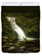 Middle Bridal Veil Falls Duvet Cover