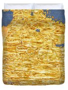 Middle East Georgia, Armenia, Azerbaijan, Iraq, Western Iran Duvet Cover