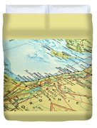 Middle East Map. Duvet Cover