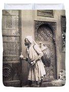 Middle Eastern Street Vendor Duvet Cover