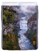 Middle Falls Letchworth State Park Duvet Cover