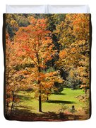 Middle Falls Viewpoint In Letchworth State Park Duvet Cover
