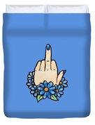 Middle Finger Duvet Cover