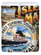 Midland Railway, Steam Boat, Isle Of Man, Poster Duvet Cover