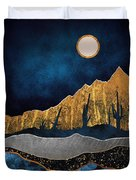 Midnight Desert Moon Duvet Cover