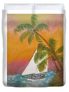 Midnight In The Gulf Of Mexico Duvet Cover