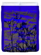 Midnight Lillies Duvet Cover