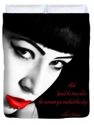 Midnight Ruby Duvet Cover