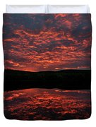 Midnight Sun In Norbotten Duvet Cover