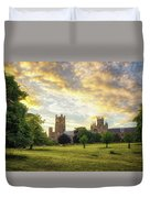 Midsummer Evening In Ely Duvet Cover