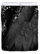 Midsummer Magik Quicksilver, Diamonds, Abstract Feathers, Silver Sparkles Duvet Cover