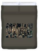 Midtown Manhattan Skyline Aerial Duvet Cover