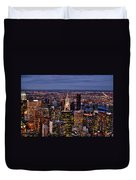 Midtown Skyline At Dusk Duvet Cover