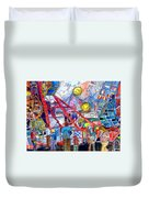 Midway Amusement Rides Duvet Cover