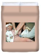 Midwife Removing Afterbirth Duvet Cover