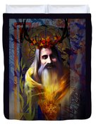 Midwinter Solstice Fire Lord Duvet Cover