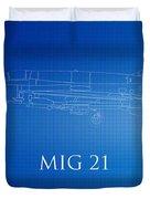 Mig 21 Blueprint Duvet Cover