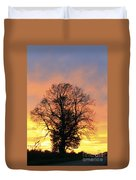 Mighty Oak At Sunset Duvet Cover
