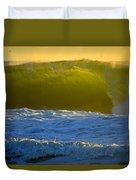 Mighty Ocean At Sunrise Duvet Cover