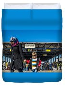 migrants in Nicklesdorf Duvet Cover