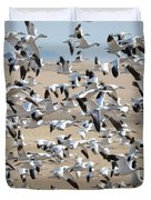 Migrating Snow Geese Duvet Cover