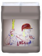 Mike Trout Duvet Cover