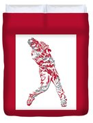 Mike Trout Los Angeles Angels Pixel Art 20 Duvet Cover