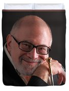 Mike Vax Professional Trumpet Player Photographic Print 3759.02 Duvet Cover