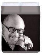 Mike Vax Professional Trumpet Player Photographic Print 3760.01 Duvet Cover