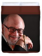 Mike Vax Professional Trumpet Player Photographic Print 3760.02 Duvet Cover