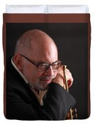 Mike Vax Professional Trumpet Player Photographic Print 3762.02 Duvet Cover